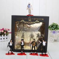 michael jackson - 5pcs set cm inch Michael Jackson PVC Action Figure MJ Collection Model Toy New in Retail Box retail