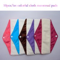 menstrual pads - 10pcs cm Minky Cloth Menstrual Pad Colorful Feminine Hygiene Product Washable Reusable Sanitary Napkin