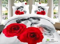 Wholesale Home frozen bed sheets sets D pure cotton big print christmas wedding bedding sets Duvet cover Flat sheet pillow case J112501