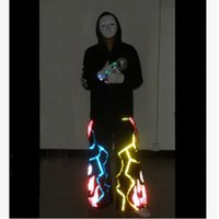 Wholesale Flame Of Lightning Shuffle Phat Pants equipped fluorescence ghost step dancing pants Ghost dance step fluorescent pants flame of pants
