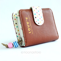 Wholesale New fashion colorful lady Candy Color lovely purse clutch women wallets short small bag PU leather card hold M B9065 M4
