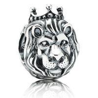 Wholesale Lion King Charm Silver European Charm Pandora Bead Fit Snake Chain Bracelet Fashion Jewelry