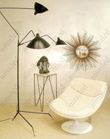Wholesale Serge Mouille Three one Arm Floor Lamp Modern Creative Iron Floor Lamps Hotel Office Living Room Lamps HSA1405