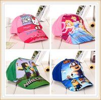 Wholesale Minions Frozen Baseball Cap Beanies Ninja Turtle Kids Cartoon Caps Hats Toy Hats Children Sofia Baseball Cap in stock