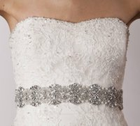 Wholesale 2016 Custom Made Cheap Bridal Belts with Crystals Bridal Sashes with Rhinestones Bridal Accessories Removable Belt for Wedding Party Dresses