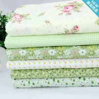 Wholesale 6pcs Green Cotton Quilting Fabric for DIY Sewing Patchwork Kids Bedding Bags Tilda Doll Baby Cloth Textiles Fabric cm