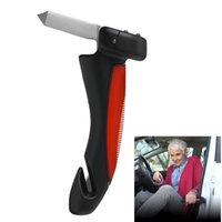 Wholesale New Auto Car Cane Door Handle Emergency Hammer Tip Glass Breaker