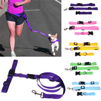 Leashes hauling cable - Newly Design Running Dog Pet Products Hauling Cable Leads Collars Traction Belt Pet Dog Traction Rope L016