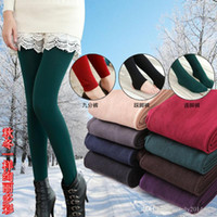 Wholesale New Women Spring Velvet Leggings Casual Warm Leggins Knitted Slim High Elastic Leggings High Quality