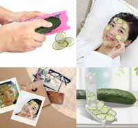 applying face mask - Cucumber Beauty Slices Face Skin Care Tools DIY Applied Cucumbers Mask Slicer Resin Stainless Steel Blade Mirror Free DHL Factory Direct
