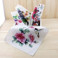 Wholesale Flower series Hand dyed painting Digital printing cloth CM Thick cotton and linen DIY craft fabrics Bag handmade