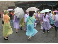 disposable rain poncho - One time Raincoat Fashion Hot Disposable PE Raincoats Poncho Rainwear Travel Rain Coat Rain Wear Travel Rain Coat B0348 MOQ