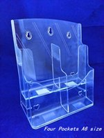 acrylic literature holders - Clear A6 Four Pockets Pamphlet Brochure Literature Plastic Acrylic Display Holder Stand To Insert Leaflet On Desktop By Express