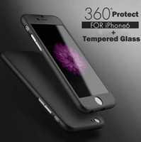 Wholesale Ultra thin Hybrid Degree Full Body Coverage Protective Case Cover with Tempered Glass Screen Protector for Apple iPhone S Plus SE S