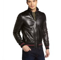 beads designs patterns - 015 new striped men jackets PU leather jacket Brand casual jacket jaquetas de couro man coat outerwear
