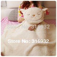 air dolly - J2 Soft plush dual use Dolly sheep cushion air condition blanket plush toy pillow pc