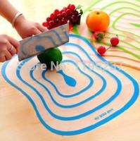 Wholesale 4PCS Set cm cutting board plastic chopping mats colored chopping board set flexible kitchen mat