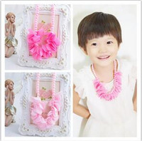 act orders - Children deserve to act the role of snow yarn pearl necklace Princess temperament big love girls accessories foreign trade orders