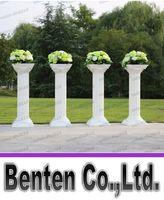 plastic columns - New Style Disassemblability Plastic Column White Roman Column Decorative Wedding Columns Pillars LLFA4301F