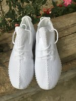Wholesale 2016 Authentic Original Kanye West Yezzy Boost Low YZY Men s Sports Running Shoes All White US7