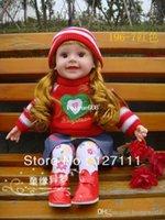 Muñecas lindas España-El envío libre embroma la muñeca de gran tamaño inteligente Hablar muñeca de tela regalo de los niños juguete Cute Girl 50cm