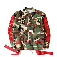 air dragon - Fall Kanye West Camo jacket swag G Dragon OFF WHITE Jacket Baseball Wear military MA1 Air Force flight suit Coat winter clothing man