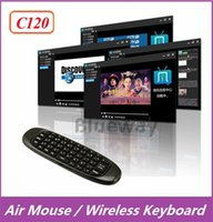 air controller - 20X C120 Air Mouse Mini Wireless QWERTY Keyboard Remote Control Game Controller Gyroscope For Android TV Box MXQ M8 M8S MXIII T8