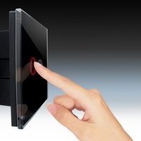 Wholesale In stock Smart Gang Touch Control Glass Crystal LED Panel Wall Light Switch EU Store White