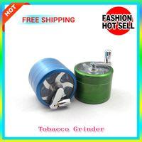 pocket parts - 5pcs Metal Alloy Tobacco Herb Grinder Pocket Aluminum Part Space Tobacco Grinder Herb Spice Pollen Grinder Crusher Hand Crank E Cigarette