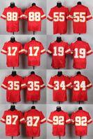 Wholesale 32 Teams Men s Kansas City Gonzalez Davis kelce poe Avery maclin okoye Ford Elite Jerseys Football Jerseys