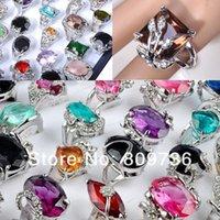Wholesale bulk crystal CZ zircon silver p Rings wedding rings Men Women Rings Jewelry Drop free