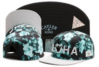 beautiful son - 2016 Adjustable Flower Beautiful CAYLER SONS ALOHA snapbacks Hats flat brim men snapback caps Cayler and sons hat baseball hats TY