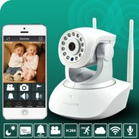 Wholesale Dual Antenna P WIFI Wireless baby monitor P2P security camera Remote Camera night vision Camera baby cry monitor Voice calls