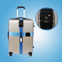 Wholesale New Arrival Safe TSA Lock Luggage Suitcase Baggage Long Cross Strap Belt M Durable Nylon Travel Packing Belt