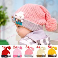 Winter rabbits for sale - Hot Sale New Knit Tail Crochet Hat with little rabbit for M T Baby Kids Infant Crochet Wool Hat x18cm Photo Prop for Newborn Baby