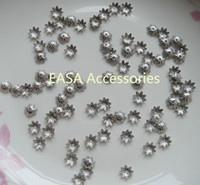Wholesale 1000pcs nickle finish mm Filigree petal flower Plain Metal Beads Caps as connectors as jewelry DIY finding Bargain for Bulk