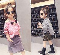 Wholesale NEW spring fashion Girls Plaid print blouses Europen and American Style Slash neck blouse