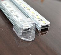 aluminum flat bars - 2m MM Wide Flat Shape Transparent Milky Waterproof Cover Aluminum Profile With End Caps For Rigid Strip LED Bar