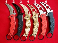pocket folder - Best edition Fox Knives Karambit Folder Knife C steel G10 handle Kuku Hanuman Trainer Karambit TK tactical Pocket knife knives