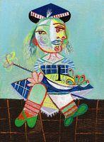 ans arts - Gift Oil Painting la fille de l artiste a deux ans et demi avec un bateau Art by Pablo Picasso hand painted High qualilty