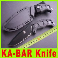 Wholesale 201411 New ka bar fixed knife hunting knife C RHC blade full tang knife Tanto point Hunting Fighting Knives Excellent quality X
