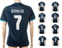 wholesale soccer jerseys - Customized New Thai Quality RONALDO rd Away Soccer Jerseys Customized Cheap ISCO top Soccer Tops Shirts JAMES Soccer Wear