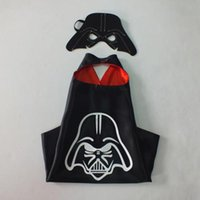 Wholesale 2016 Double Halloween Capes and mask The Avenger Ninja Star Wars capes mask set Frozen Cinderella for Kids CM Shipping