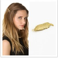 Wholesale jewelry manufacturers fashion simple gold leaf edge clamp frog hairpin clip