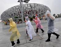 adult rain slicker - One time Raincoat Fashion Hot Disposable PE Raincoats Hooded Long Sleeve Poncho Rainwear Travel Camping Surfing Rain Coat Rain Wear Slicker