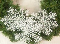 best tree stands - best selling Snowflake Christmas supplies diameter cm Christmas decoration white Christmas hanging decoration via DHL shipping