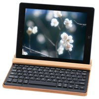bamboo tablet wireless - SeenDa Bamboo Wood Holder Stand Bluetooth Wireless Multimedia Keyboard for iPad Tablet Smartphone