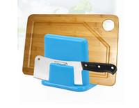 plastic board cutting board - Multifunctional lid rack chopping block rack plastic cutting board rack shelf
