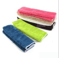 Wholesale Non stick oil towel dishcloth universal fiber ultra soft dishcloth rag Scouring Pad A138