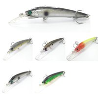 floats for fishing - Fishing Lure Minnow Crankbait Hard Bait Long Casting for Saltwater Fishing Wire Through the Body Slow Floating Jerkbait M511